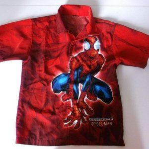 Red Spiderman Shirt Fits Boy Size XXL or 16-18
